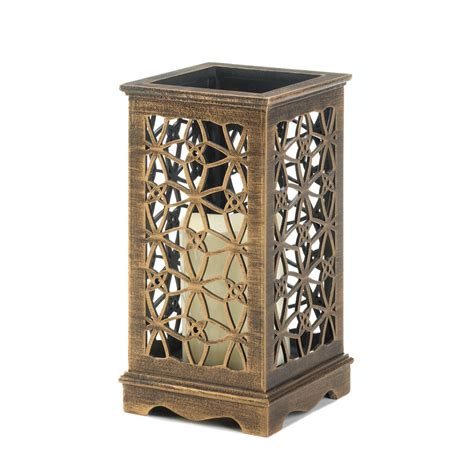 wooden candle wooden candle lantern decorative floral cutout led wood