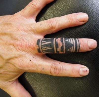 finger tribal tattoos fx gallery category neil s tribal work image