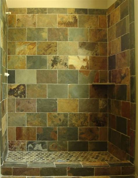 bathroom with slate tile shower tile slate with brick pattern design client js