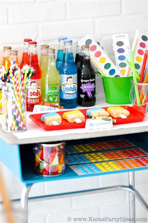 themed birthday party kits kara s party ideas colorful art party with tons of ideas