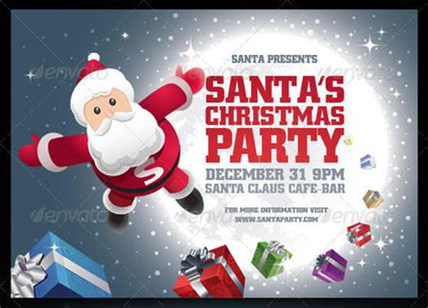 templates for christmas posters 20 top premium christmas party flyer templates