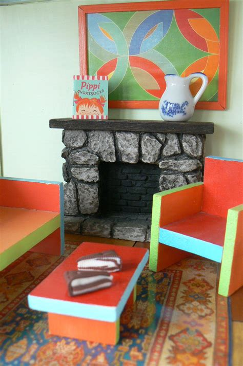 6 ft dollhouse doll house furniture the fireplace doll house