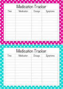 Free Medication List Template Free Printable Medication List Template I Made These