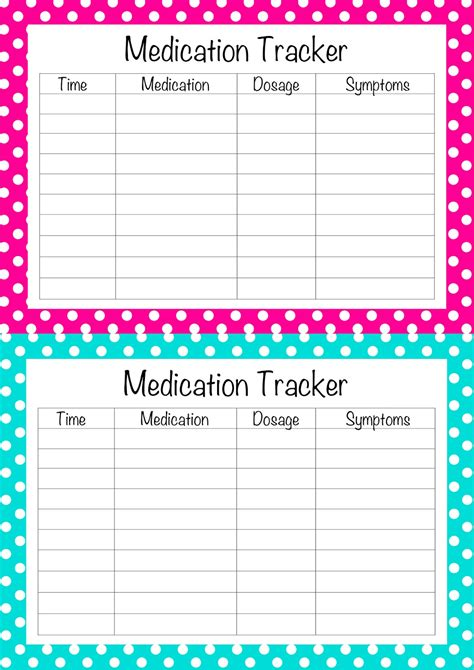 free printable medication list template i made these