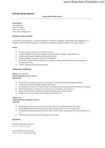 nursing resume exles with clinical experience writing