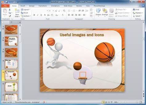 Animated Basketball PowerPoint Template   PowerPoint