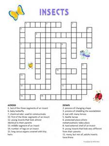 Crossword Answer Garden Pests Print Out Our Free Insect Crossword Puzzle For And