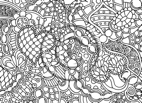 coloring pages for adults abstract pdf printable coloring page zentangle