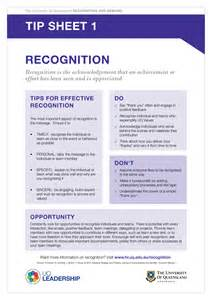 tip sheet template resources recognition and reward the of