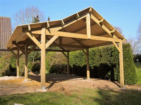carports de carports bois toit plat pente pergolas decochalet