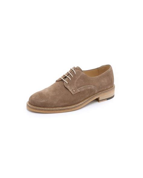 plain toe oxford shoes wolverine henrik suede plain toe oxford shoes in brown for