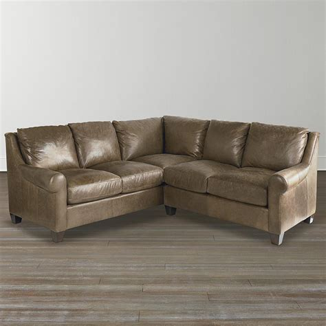 small l shaped leather sofa bassett 3101 lsectls ellery small l shaped sectional