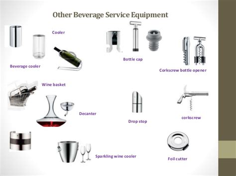 service supplies beverage service equipment