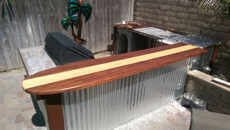 outdoor bar tops custom made classic surfboard bar top by harbour millwork custommade com