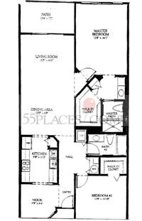 karanda floorplan 1360 sq ft century village at pembroke pines 55places com