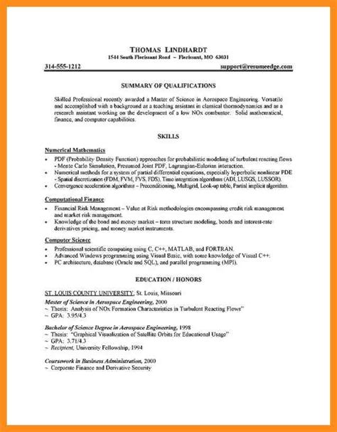 graduate school admissions resume sle 3 resume for