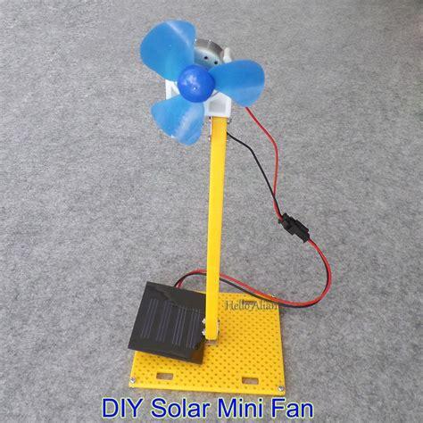 solar powered electric fan diy solar power generator dc motor fan solar toy for