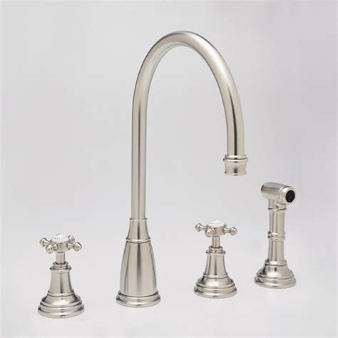 traditional kitchen faucets rohl perrin rowe athenian hole cspout 2 handle kitchen