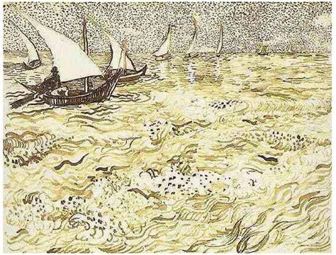 boat drawing sea fishing boats at sea by vincent van gogh 946 drawing
