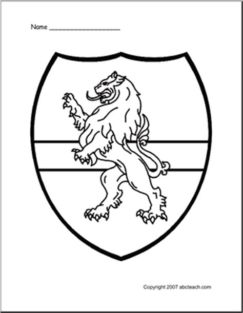 coloring pages knights shields medieval classroom theme of 1 coloring page medieval