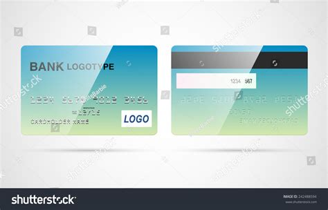 Blank Credit Card Template Vector Blank Debit Or Credit Card Template With Magnetic Stock Vector Illustration 242488594