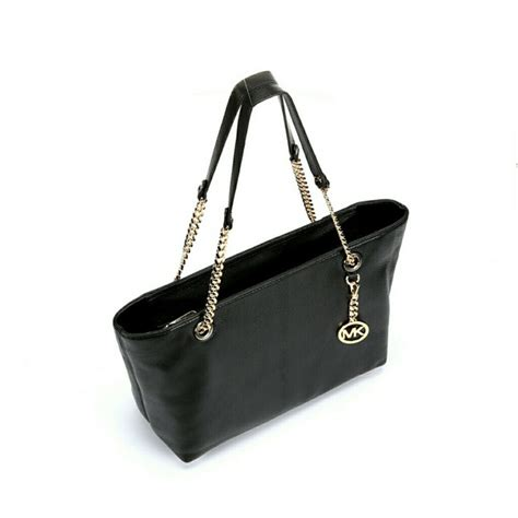 Michael Kors Hayley White Authentic black and gold handbag mc luggage