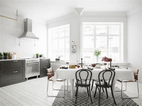 3 types of black and white dining room designs for