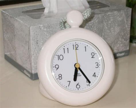 shower clock rope clock water resistant white quartz