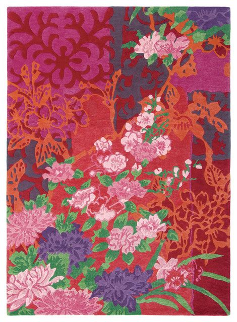 pink floral area rug brink and cman garland floral rug pink and