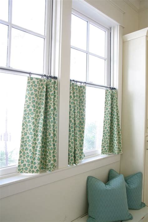 Cafe Curtains Bathroom Window Green Cafe Curtains