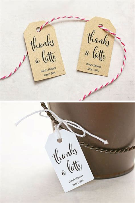 sweet sayings for bridal shower favors thanks a latte its cold and coffee quotes on