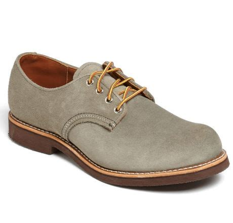 wing suede buck shoe in green for mohave lyst