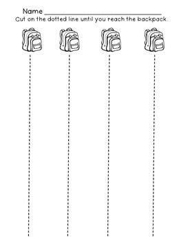 preschool scissor activities printable free back to school scissor skills for kindergarten and