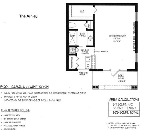 ashley pool house floor plan for the home pinterest