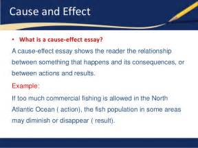 What Is Cause And Effect Essay by Cause And Effect Essays