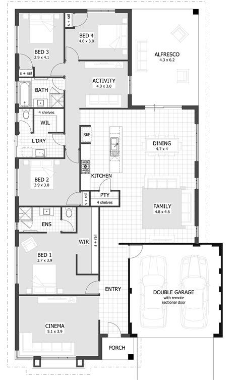 home design floor plans 4 bedroom house plans home designs celebration homes