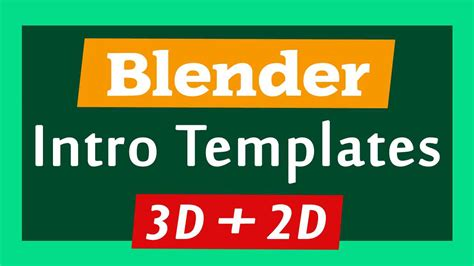 Top 10 Blender 3d 2d Intro Templates 2017 Free Download 2d Intro Template Blender