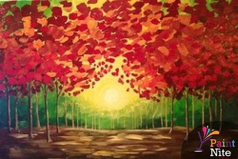 paint nite island events paint nite fall sunset