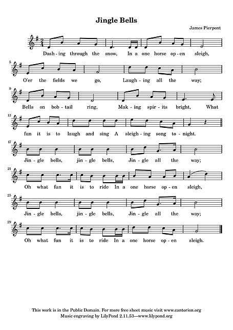 jingle bells rock testo italiano jingle bells vocal line voice sheet cantorion
