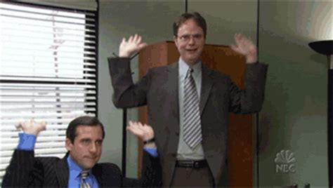 happy the office gif find & share on giphy