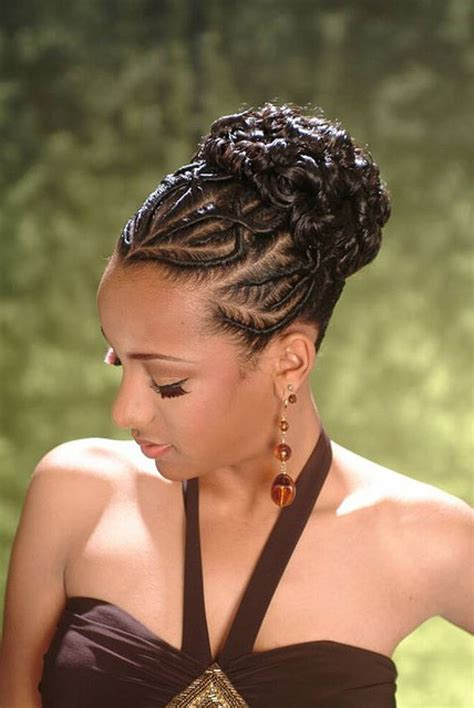 Braid Hairstyles For American by American Braid Updo Hairstyles Hair