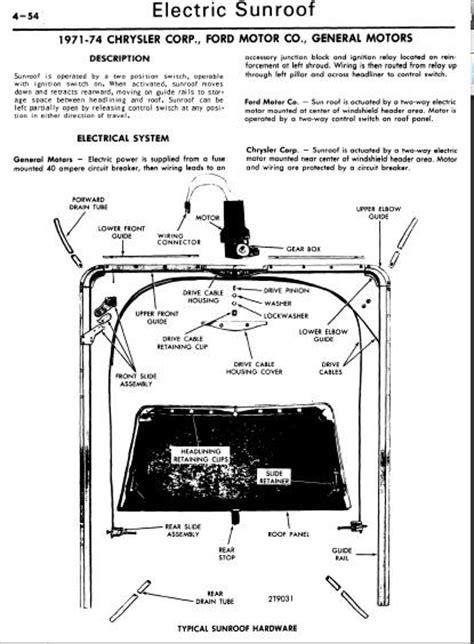repair manuals   electric sunroof repair manual
