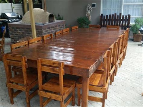pallets seater table and chair set to your home pallets