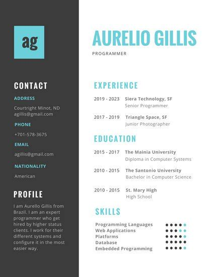 colorful resume templates customize 98 colorful resume templates canva