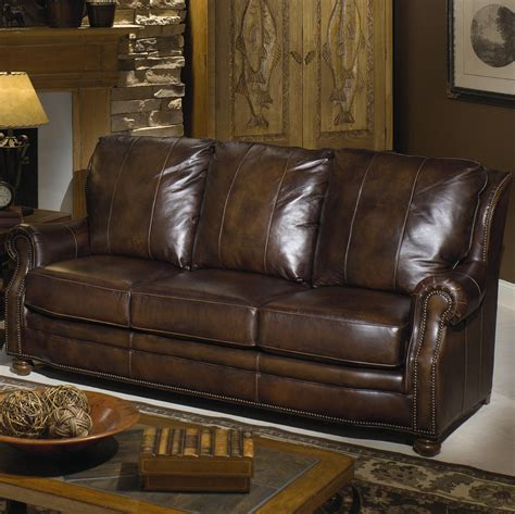 brown leather couch with nailheads leather sofa design perfect brown leather sofa with