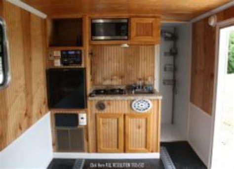 cer trailer kitchen ideas 40 best enclosed trailer cer conversion ideas wartaku net