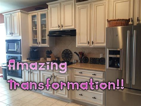 Faux Glaze Finishing Kitchen Cabinets With Hvlp Gun How How To Paint Oak Kitchen Cabinets White
