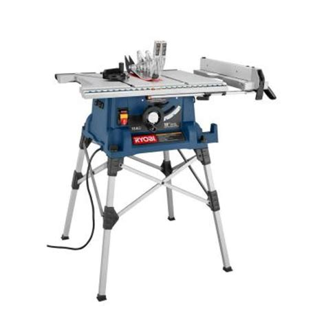 portable bench saw ryobi 10 in portable table saw with stand rts21 the