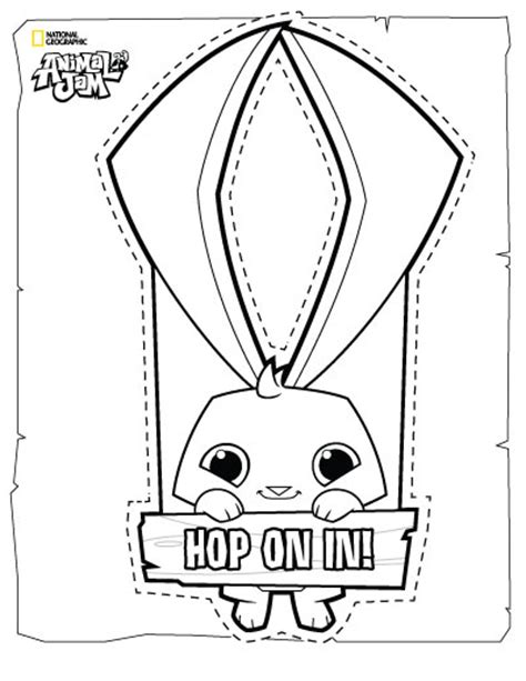 animal jam coloring pages bunny animal jam bunny coloring pages coloring pages