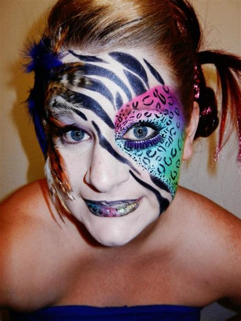 what color is a zebra s skin paint zebra leopard multi colored makeup skin